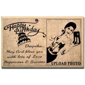 Happy B'day wooden plaque
