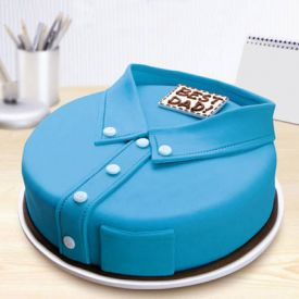 Blue Shirt Fondant Cake