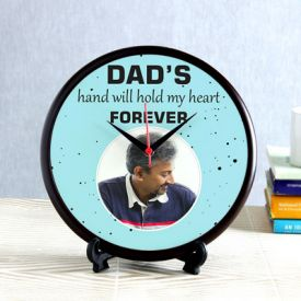 Dad Forever Personalized Wooden Round Clock