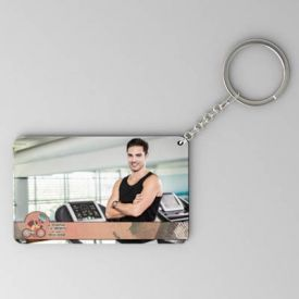 Be positive Be sporty Personalized House Warming Keychain