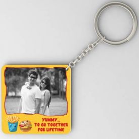 Together for lifetime Personalized Square Key-chain