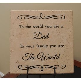 Father's Day Personalized Tile