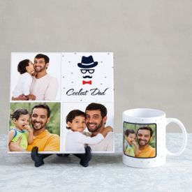 Coolest Dad Personalized Tile & Mug