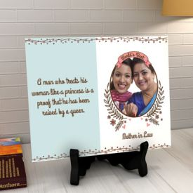 World's Best Mother-in-Law Personalized Photo Tile