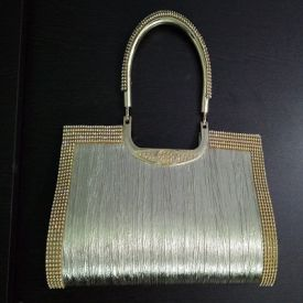 Silver Medium Casual Clutch