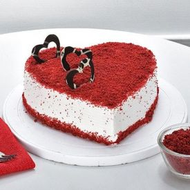 1KG Cake Red Velvet Heart Shape