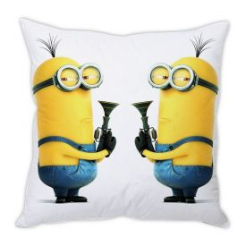 Despicable Me Minion White Silk Cushion
