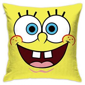 Spongebob yellow Silk Cushion