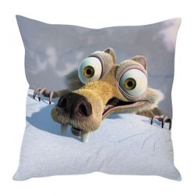 Ice Age White Silk Cushion