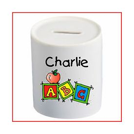 Personalized Charlie Piggy Bank