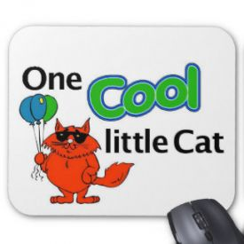 Cool cat kids mouse pad