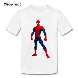 Kids Favorite Spiderman White T-Shirt