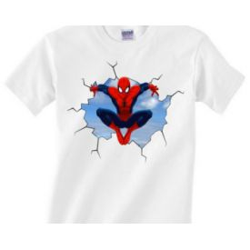 My Hero My Spiderman White T-Shirt