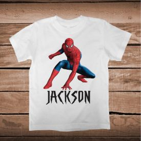 Custom Spiderman T-Shirt For Kids