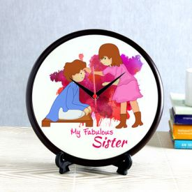 Fabulous sister round shaped clock