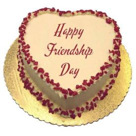 Friendship day Heart Shape Butter Scotch Cake