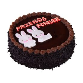 Friend Forever Round Shape Black Forest Cake