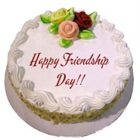 Friend Forever Round Shape Vanilla Cake