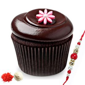 Chocolate Cup cakes with rakhi