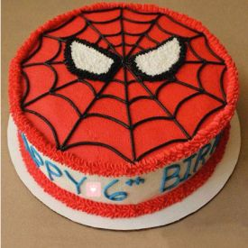 Creamy Spiderman Cake
