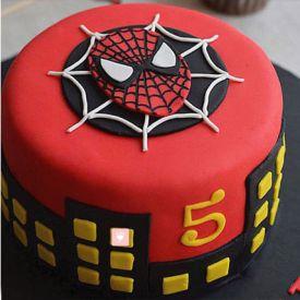 2 KG Round shape Spider Man Cake
