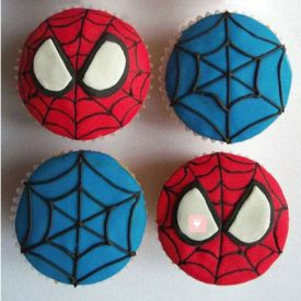 Spiderman Cup Cake