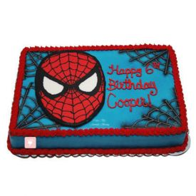 Mask Spider Man Cake