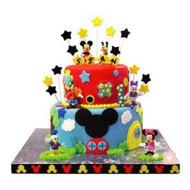 2-Tier Mickey Mouse Cake