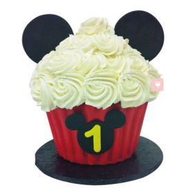 Mickey Mouse Floral Cup Cake