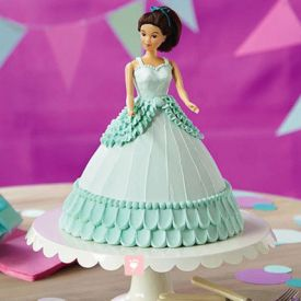 Blue Barbie Cake