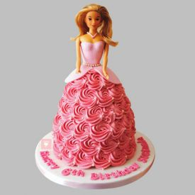 Flamboyant Barbie Cake