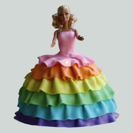 Splash of Colors Barbie Cake