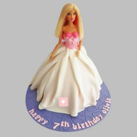 Sober Barbie Cake