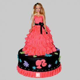 Wavy Dress Barbie Cake