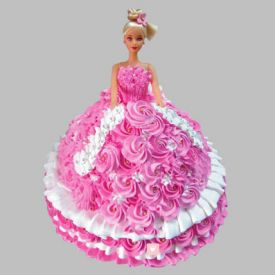 Rosy Barbie Cake