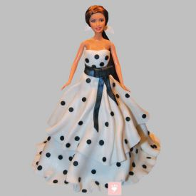 Polka Dots Dress Barbie Cake