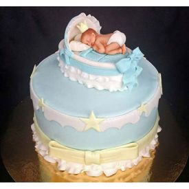 Baby In The Crib Fondant 4 kg Cake
