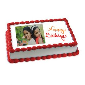 Happy Birthday Photo Cake