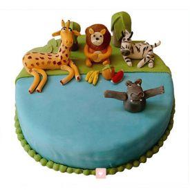 Madagaskar Fondant Cake