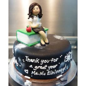 Thank you Teacher's Day Chocolate Truffle Cake