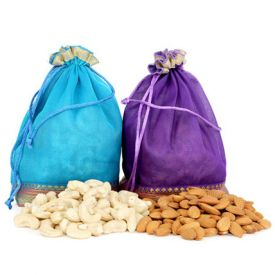 Two Dry Fruits Potli Bags