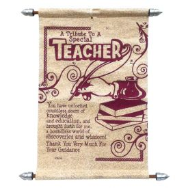Teachers Day Scroll Card