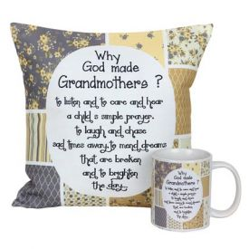 Mug And Cushion For Grandma