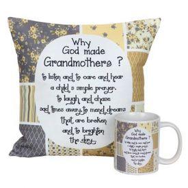 Mug And Cushion For Grandma