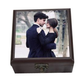 Personalised Wooden Brown Box