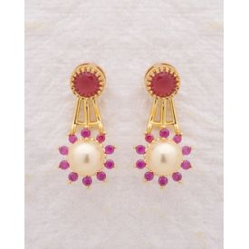 Pearl Floral Earrings