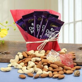 chocolates combined with dry fruits