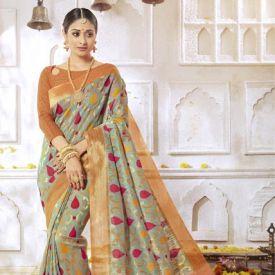 Stylish Ethnic Wear Art Silk Saree