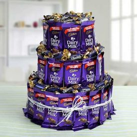 Dairy Milk Tower Arrangement
