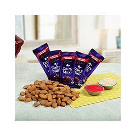 5 Cadbury Chocolate Almonds 100gms and Roli Chawal